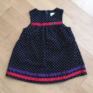 Gymboree baby girl corduroy jumper dress black